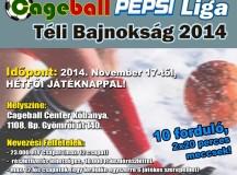 Cageball PEPSI LIGA Téli Bajnokság 2014-'15