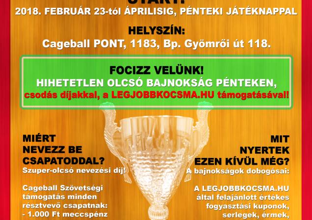 LEGJOBBKOCSMA-LIGA – Tavaszi szezon 2018 – PÉNTEK